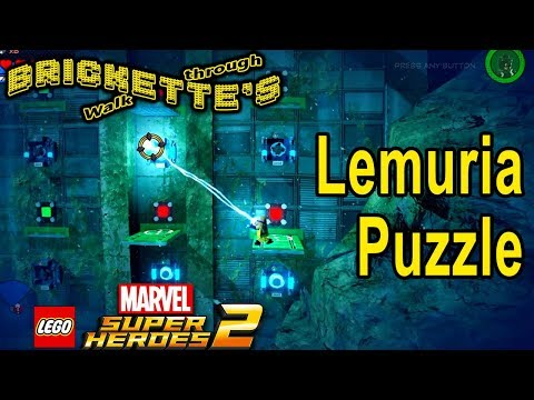 Underwater Puzzle Against Wall in Lemuria in LEGO Marvel Super Heroes 2 for a Gold Brick 100% guides