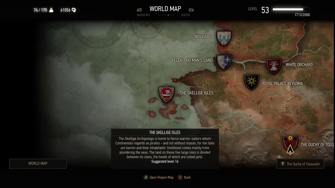 Witcher 3 Wild Hunt Skellige Undiscovered Locations Question Marks Youtube