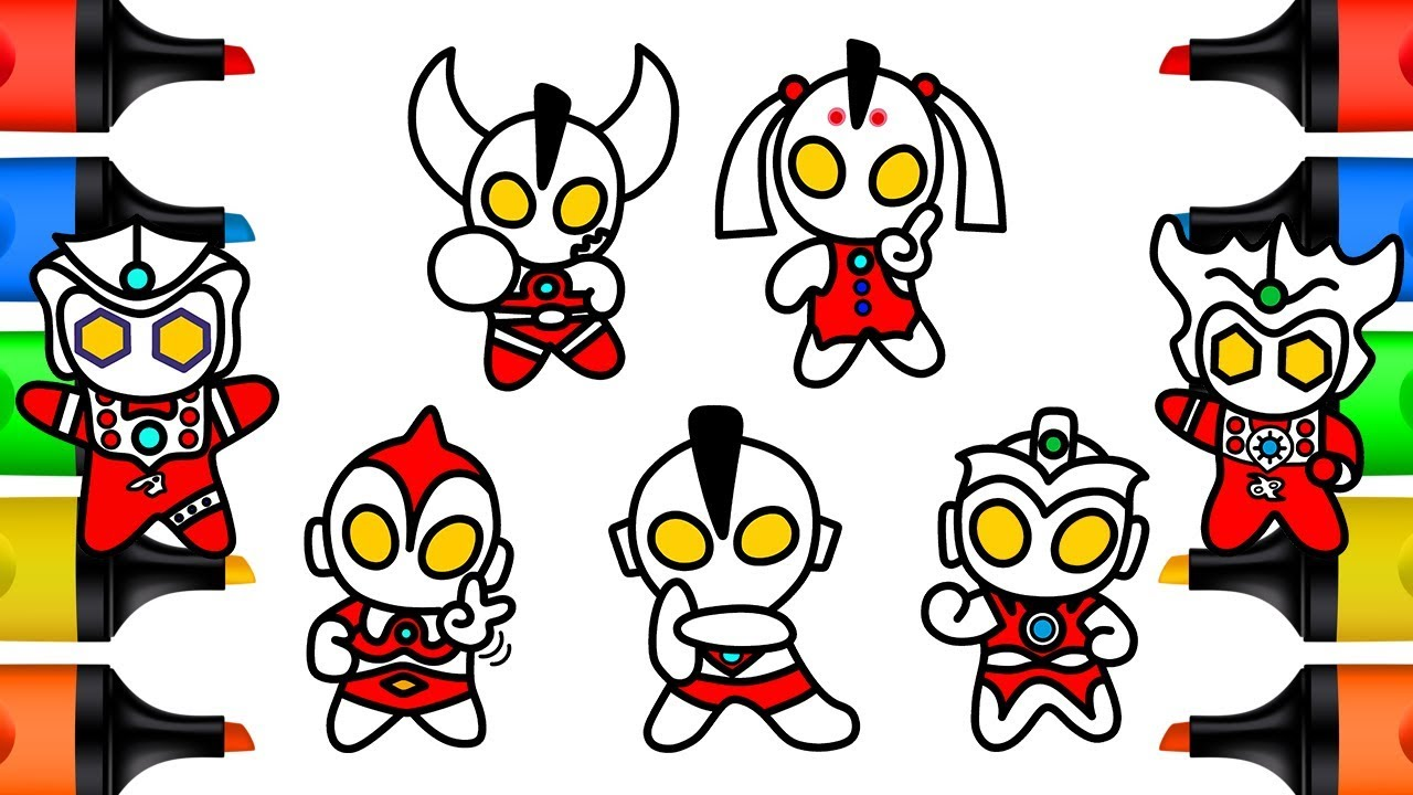Ultraman Ribut Family How to Draw