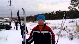 Максим Чечнев впервые встал на лыжи