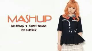 Bad Things & I Don't Wanna Live Forever ( MASHUP! ) | J.Fla Cover [ LYRICS ]