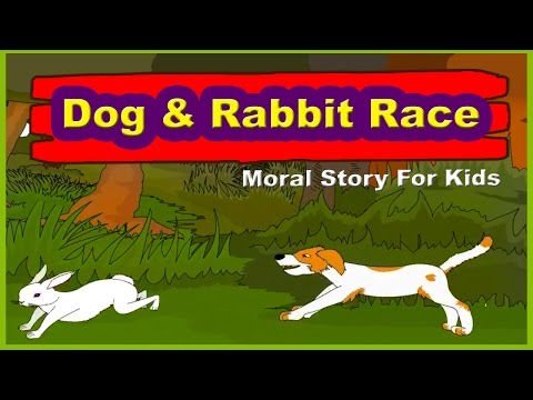 Dog And Rabbit Race - Story in English I English Stories For Kids | Moral Bedtime Stories For Kids