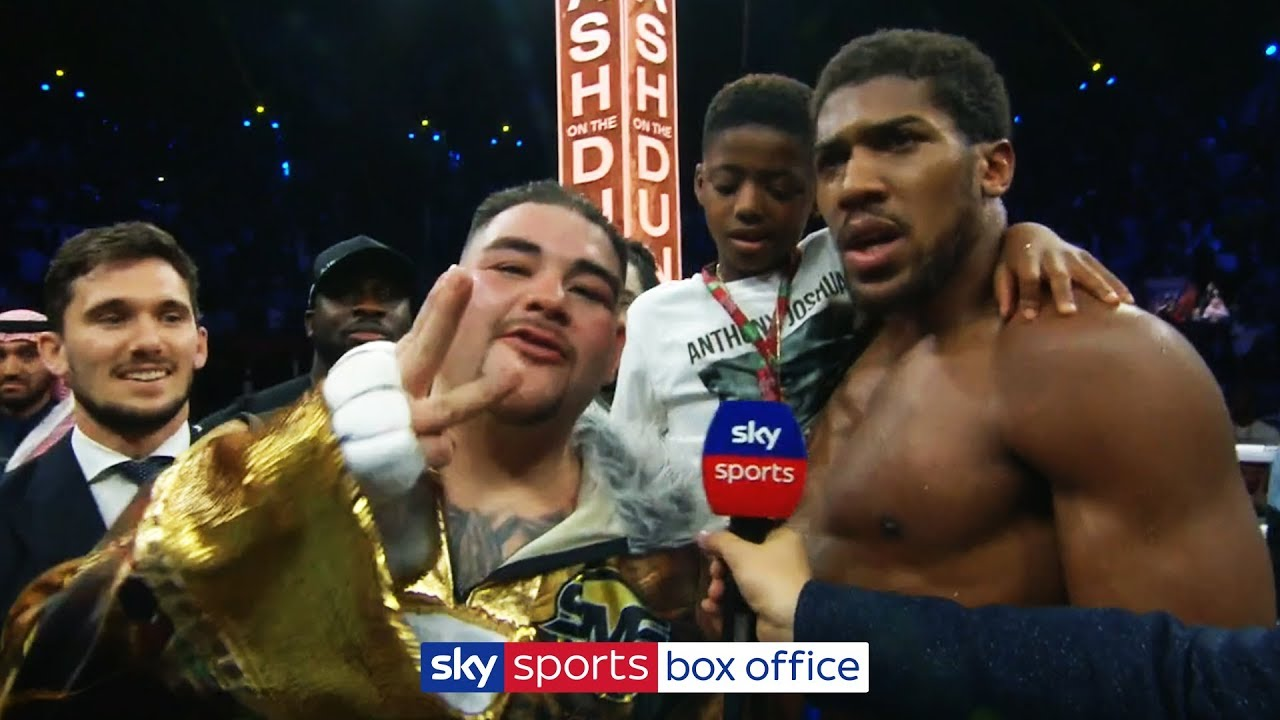 Andy Ruiz Jr interrupts Anthony Joshua interview to demand THIRD fight following rematch defeat!