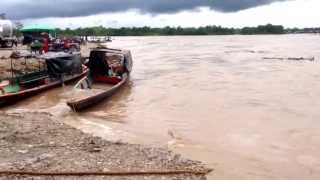 Así comenzó a crecer el río Putumayo en la tarde del 25 de julio de 20137
