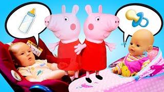 Свинка Пеппа сидит с Карлом и Беби Бон, пока Маша Капуки спит - Мамина школа