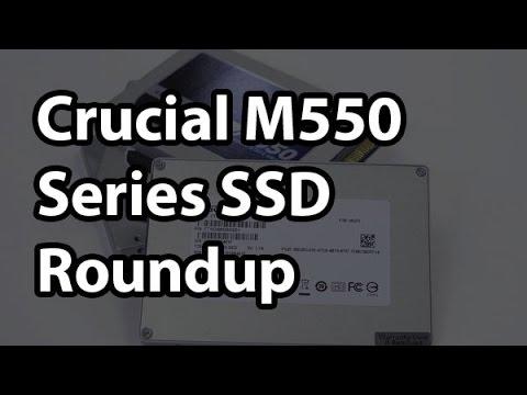 "Crucial M550 2.5"" SATA SSD Full Capacity Roundup"