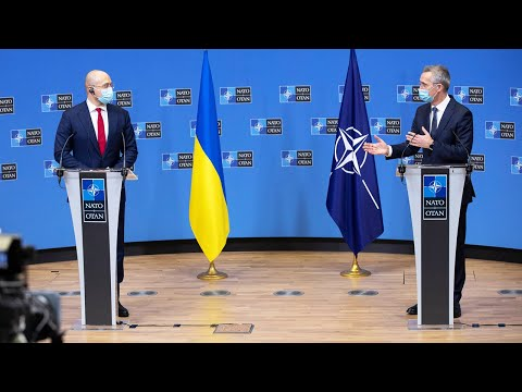 NATO Secretary General with the Prime Minister of Ukraine🇺🇦Denys Shmyhal, 09 FEB 2021