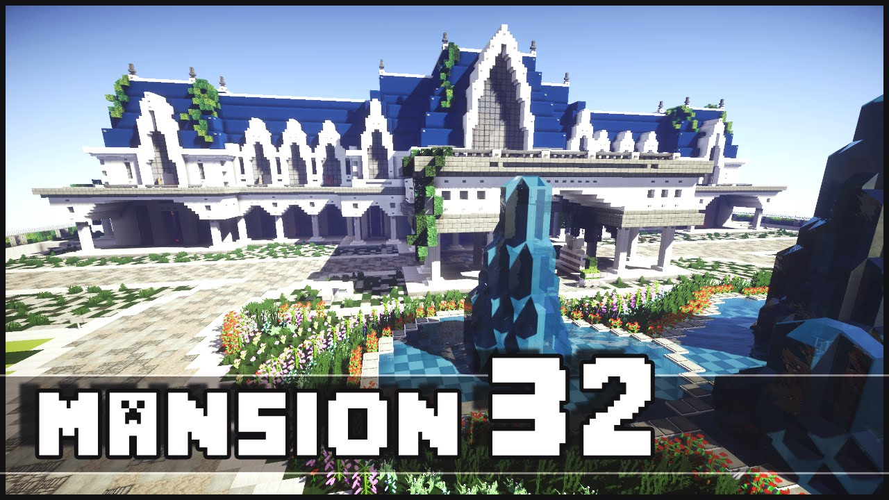 minecraft biggest mansion of the server youtube