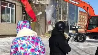 В Хабаровске снесли кафе китайской кухни Амур