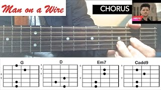 """Man On A Wire"" - THE SCRIPT Guitar Tutorial (Easy Chords Lesson)"