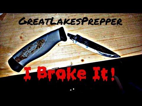 I Broke My Mora Knife!! Too weak for survival(?)