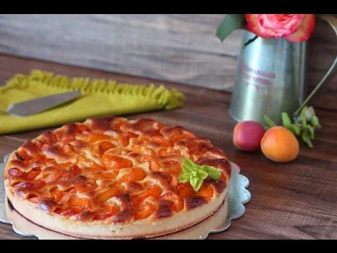 Tarte aux abricots et amandes / apricot tart recipe / طورطة ...