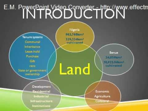ACQUISITION AND MANAGEMENT OF LAND RESOURCES FOR AGRICULTURAL PRODUCTION IN BENUE STATE, NIGERIA