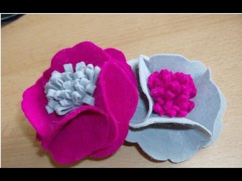 Diy Flower Easy Fabric Floral Brooch