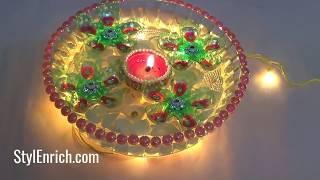 Last Minute Diwali Decoration Idea using Plastic Bottles | Diya Decoration at Home | StylEnrich