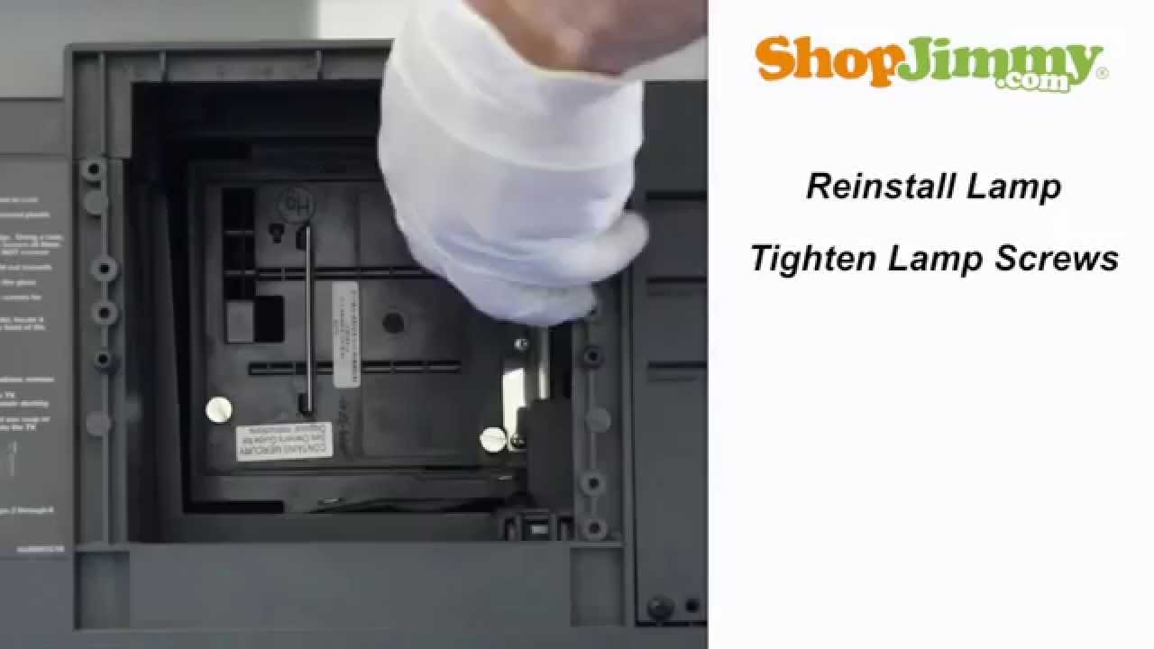 Mitsubishi 915P020A10 Lamp Replacet Guide for DLP TV - YouTube