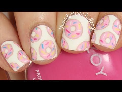 easy diy donut nail art