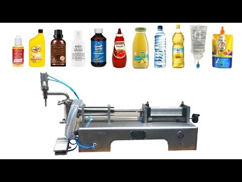 Semi Automatic Single Head Pneumatic Piston Liquid  Filling Machine