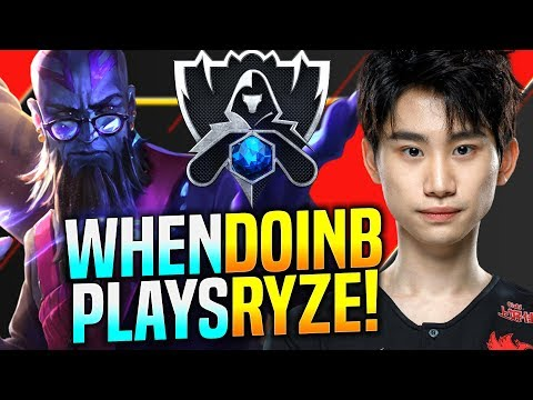 DoinB is Ready for Finals with Ryze! - FPX DoinB Plays Ryze vs Ahri Mid! | S9 EUW SoloQ Patch 9.22