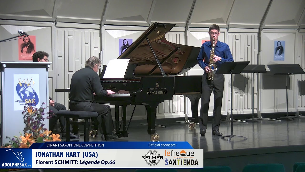 Jonathan Hart (USA) - Legende op 66 by florent Schmitt (Dinant 2019)