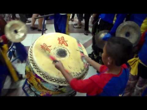 Sound of Drum and Cymbal for Lion Dance