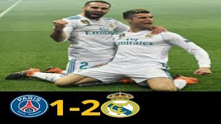 "Paris San Germain vs Real Madrid, ""RESUMEN"" Goals and Highlights, Round of 16, 2nd leg (06/03/2018)"