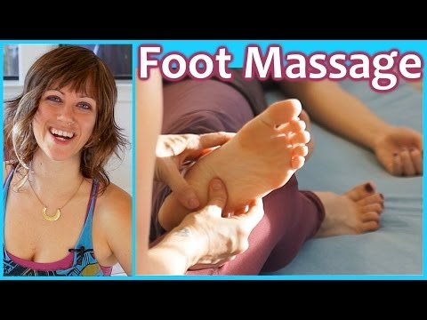 HD Foot Massage   How to Thai Massage Techniques for Feet   Pain Relief & Relaxing Music ASMR