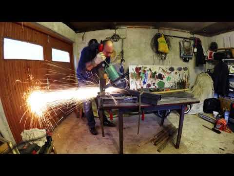 DIY Chestnut wood coffee table with metal legs
