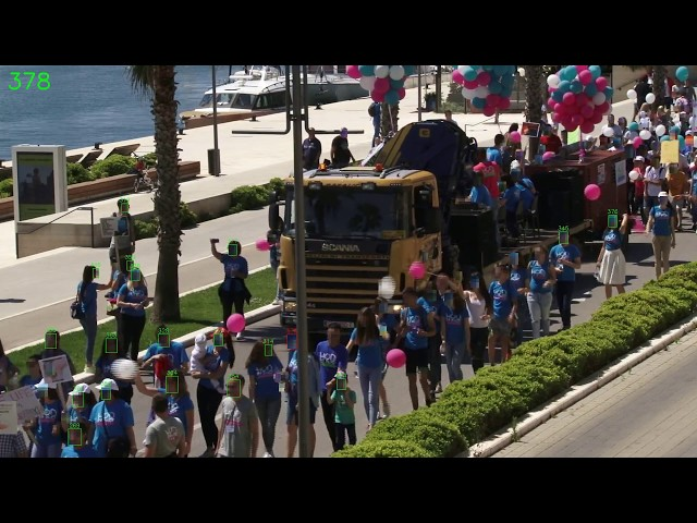Walk for Life in Split on May 19, 2018 - participants counting