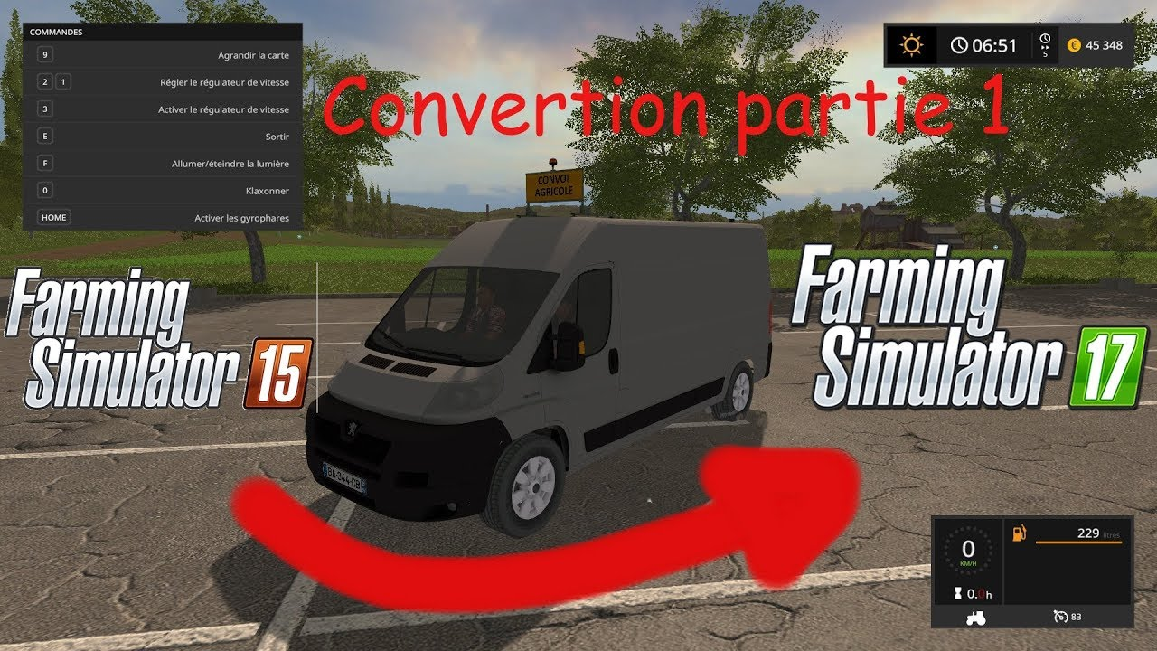 fs17 tuto convertion de mods de fs15 fs17 youtube. Black Bedroom Furniture Sets. Home Design Ideas