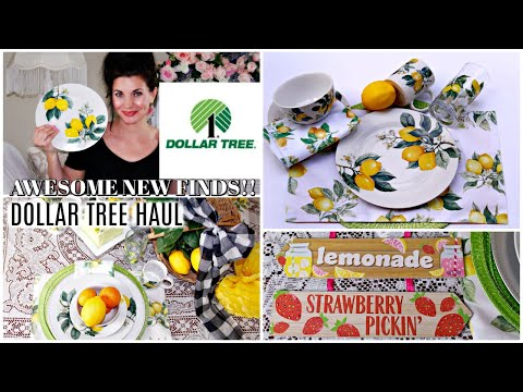 🍋DOLLAR TREE HAUL 2019/ LEMON DISHES!!! 🍋 AWESOME NEW FINDS!