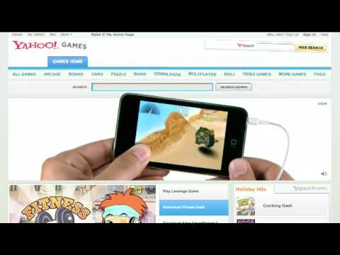 Yahoo Games: IPod Touch Web Ad