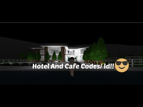 Welcome To Bloxburg Hotel And Cafe Decal Id Codes