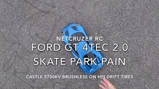 4TEC 2.0 Skate Park Pain! Drift Jumps with Traxxas 4 TEC 2.0 Brushless Ford GT - Netcruzer RC