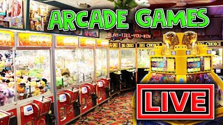 PLAYING ARCADE GAMES LIVE WITH CLAW CRAZINESS