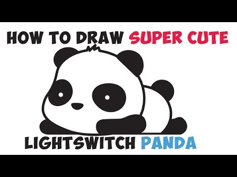 How to Draw a Panda Bear Step by Step Easy Drawing Cute Kawaii Chibi for Kids