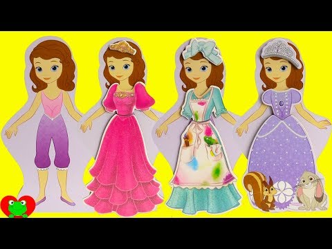Thumbnail: Sofia the First and Disney Princesses Play Dress Up