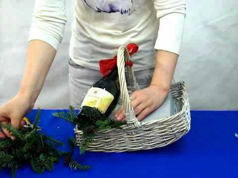 """""""Подарочная новогодняя корзина с алкоголем"""""""