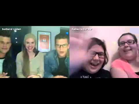 Teen Wolf Cast: Holland Roden with Max and Charlie Carver Q&A