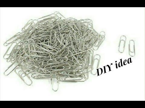 Unique DIY idea with paper clips   jewellery tutorials