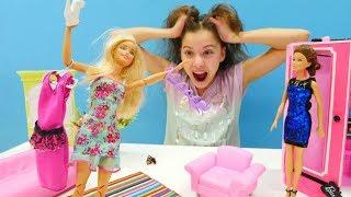 Barbie hazırlanamıyor. Polen ile Barbie sinemaya geç kalıyorlar!