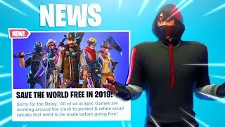 """What Happened to """"FREE FORTNITE SAVE THE WORLD"""" in 2019! (Fortnite STW Free Release Date + Details)!"""