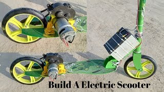 Build A Electric Scooter With 775 Motor  How to Make Simple Electric Scooter