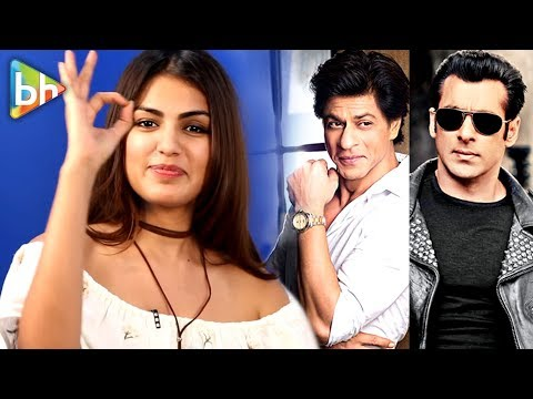 Rhea Chakraborty AMAZING Rapid Fire On Shahrukh Khan, Salman Khan