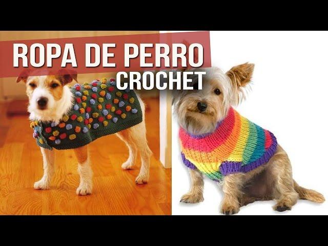 10 Patrones y Vídeos: Ropa de Perro a Crochet | CTejidas