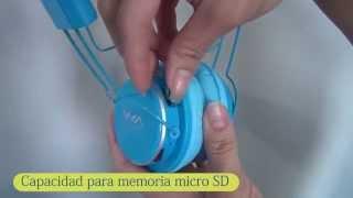Audífonos Inalambricos NIA Mp3/MicroSD/FM
