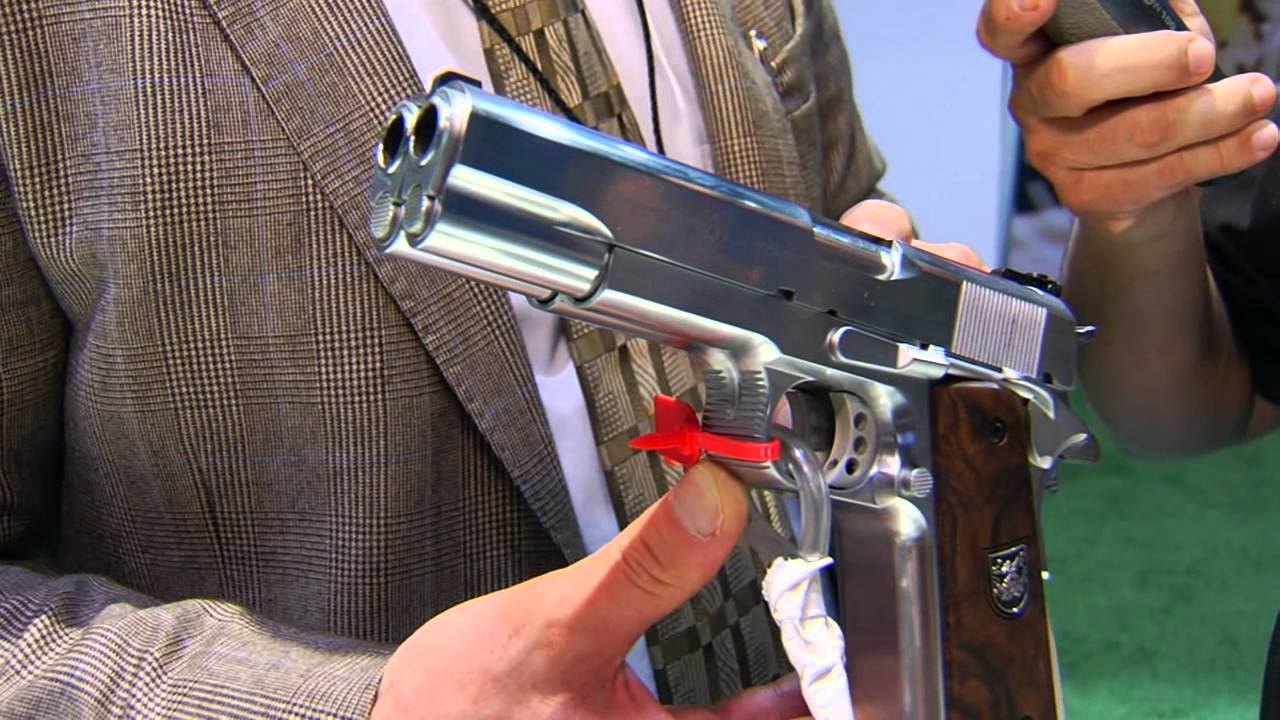 Af2011 A1 af2011-a1 double barrel pistolarsenal at shot show 2013 on the firearms  channel