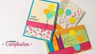 Como Hacer Cartas / Tarjetas de Cumpleaños!!! | Fáciles y Bonitas