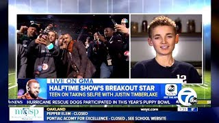 Gets Selfie With Timberlake Super Bowl Halftime (GMA Interview)