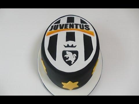Juventus Turin Motivtorte  Fondanttorte mit Fussball Logo
